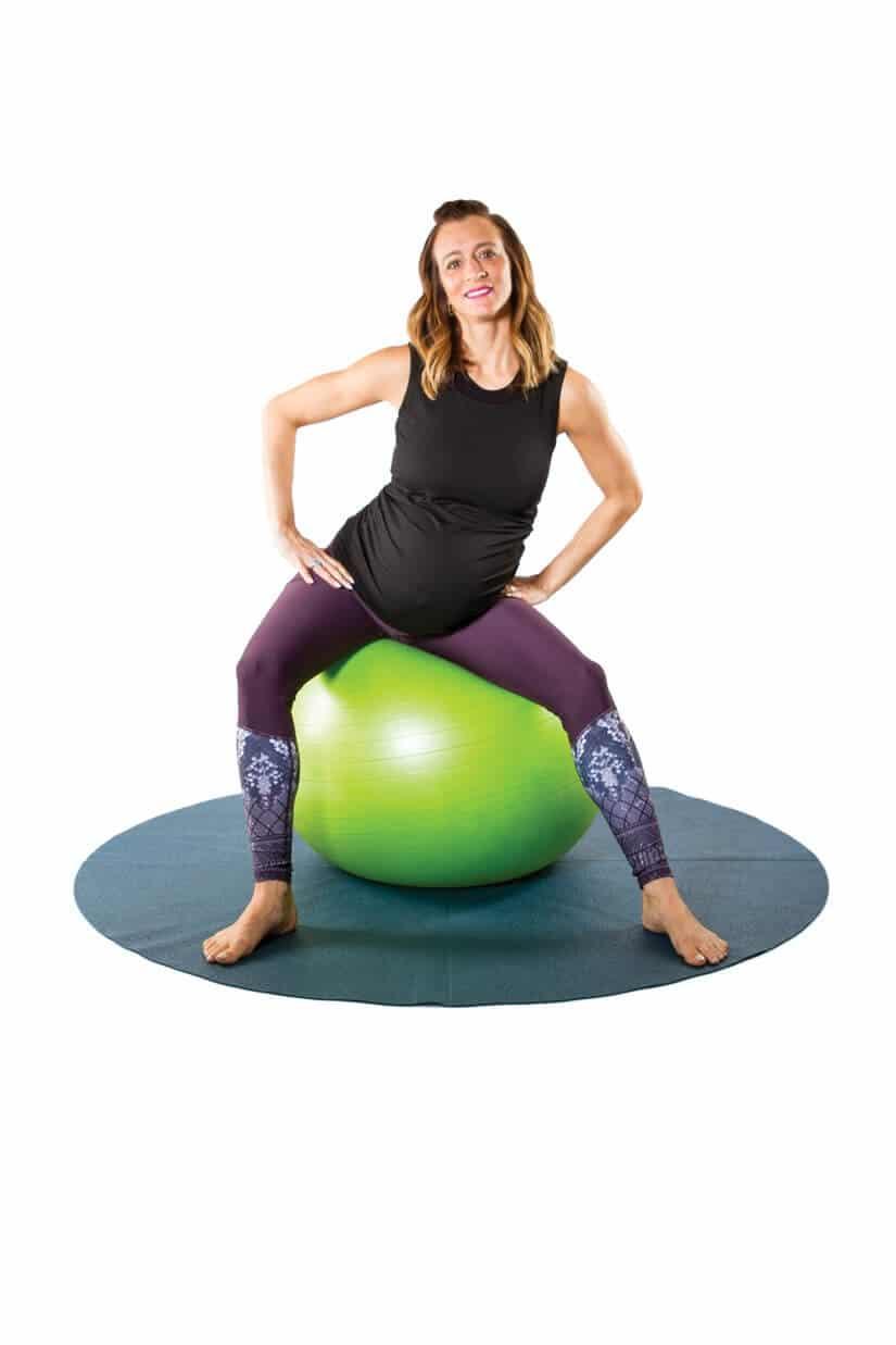 Esercizi di yoga nel terzo trimestre di gravidanza: il secondo esercizio