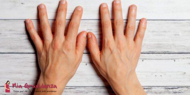 Le vene sporgenti della mano sono un segno di gravidanza?